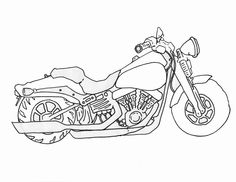 How to Draw a Motorcycle, Step by Step, Motorcycles