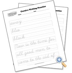Free handwriting practice. Create your own worksheets. I