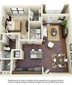 50 one 1 bedroom apartment house plans - One Bedroom Apartments Lubbock