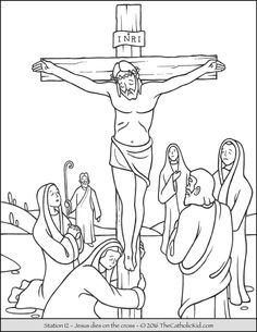 This free coloring page shows Jesus in the Garden of