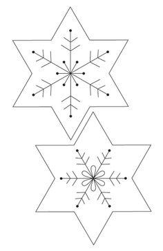 Christmas decorations: felt snowflake Christmas garland