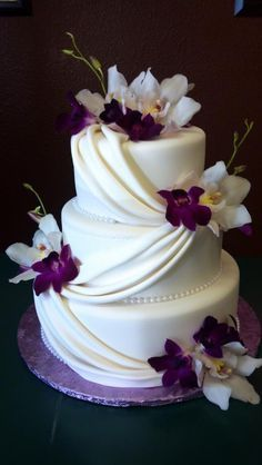 White and purple wed
