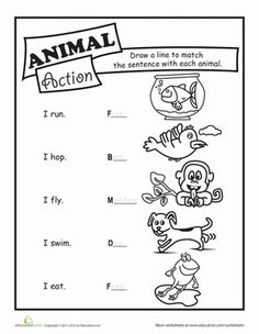 animal worksheet: NEW 778 ANIMAL ACTIONS WORKSHEET