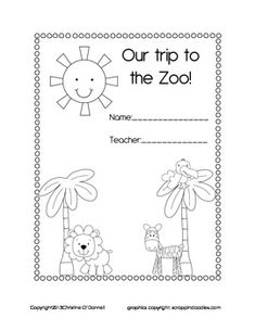 Freebie. Put this on the desk for morning work on a zoo