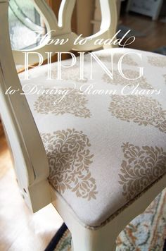 how to recover dining room chairs with piping cross back white 1000+ ideas about upholstered on pinterest | chairs, and side