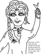 samson and delilah coloring pages, samson and delilah