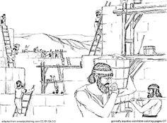 Nehemiah rebuilding the wall