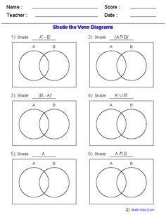 4 Of Set Theory Venn Diagrams Set Notation Venn Diagram