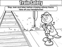 when you see tracks, think train! Stay safe around