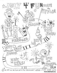 Free Kids Printable Activities: Easy 4th of July Word