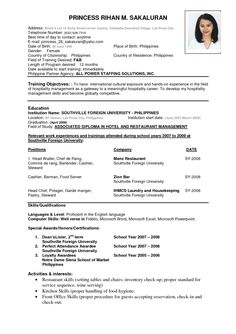 examples of the best resumes - Resume Formatting Examples