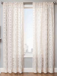 Zino Sheer Curtain Panel Available In 6 Colors Window Treatments