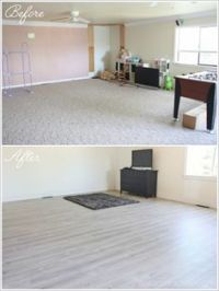Tore out the three different types of flooring (carpet ...