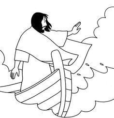 Jesus calms the storm (Matthew 8, Mark 4, Luke 8