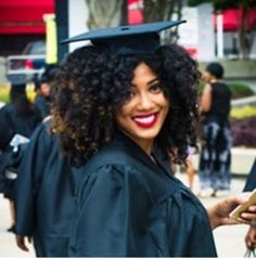 The Perfect Graduation Cap Style For Natural Hair! Professional