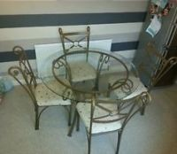 glass and wrought iron table and chairs | PIER 1 Dining ...