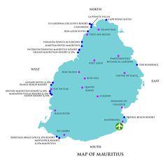Mauritius Political Districts Map Mauritius Maps