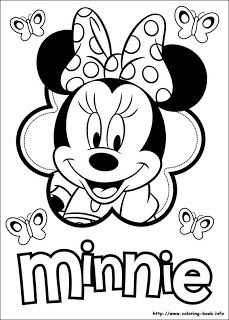 1000+ images about minnie mouse boutique coloring pages on