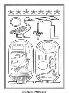 King Tut how to draw instructions. Colored in with oil