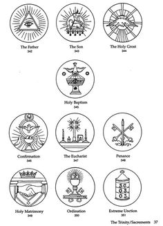 Catholic, Coloring pages and Symbols on Pinterest