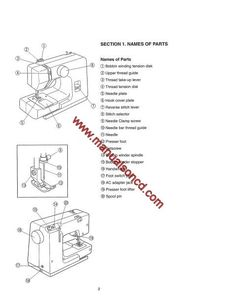 Singer XL6562 Sewing Machine Instruction Manual. Here are