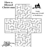 Kids Bible Worksheets-Free, Printable Christmas Maze