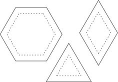 2 inch parallelagram english paper piecing, free printable