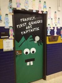Army themed classroom door
