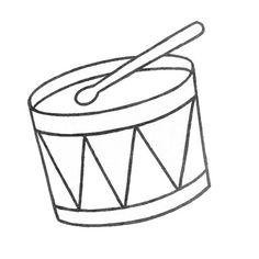 Ukulele pattern. Use the printable outline for crafts
