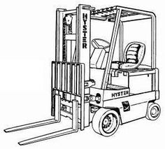 Hyster Electric Forklift Truck Type A219: E30HSD, E35HSD
