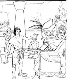 Joseph supervises the gathering and distribution of grain