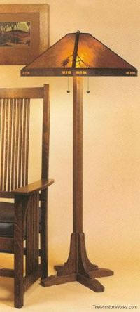 Mission Style Floor Lamp Plans