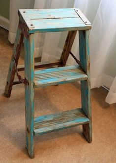 Shaker Step Ladder on Pinterest  Step Stools Stools and