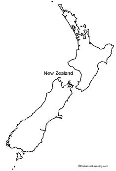 New Zealand pattern. Use the printable outline for crafts