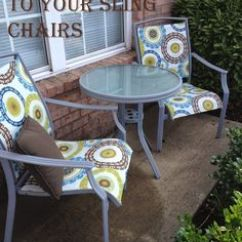 Redo Sling Patio Chairs Salt Chair Ikea Broken Glass Tables   Top Table That Was In A Storm. Didn't Want To ...