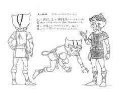 The Flintstone Kids Captain Caveman model sheet, 1986
