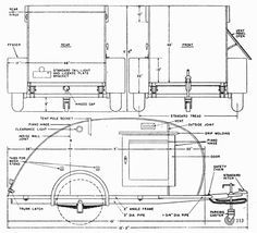5 X 8 And 5 x 10 Teardrop Trailer Plans, Instructions And