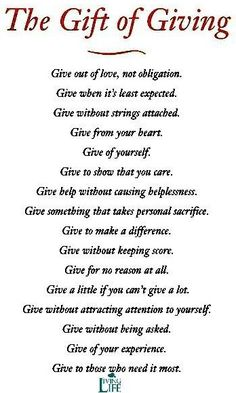 Inspirational Quotes About Giving Back QuotesGram