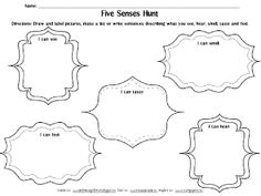 1000+ images about 5 Senses Activities & Printables on