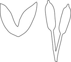Cattail pattern. Use the printable outline for crafts