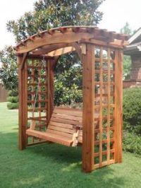 Crescent City Ramblings: Garden Pergola Swing...the ...