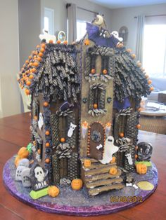 Edible Haunted House Halloween Pinterest Gingerbread House