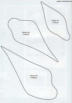 Rose Petal Outline Printable \x3cb\x3eflower petals\x3c/b
