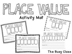 Place Value Roll Activity use with 3 dice for the hundreds