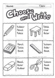 Here is worksheet for beginners to practice writing their