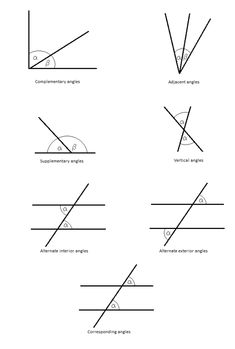 Angles, Worksheets and Geometry on Pinterest