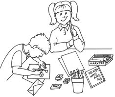 read to self & read with partner clip art D5 (crop to