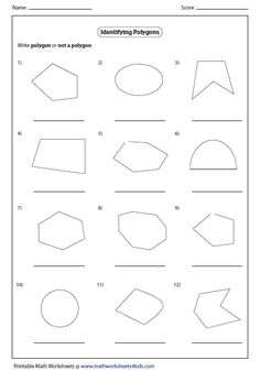 These are just a few 2D shapes worksheets I made for my