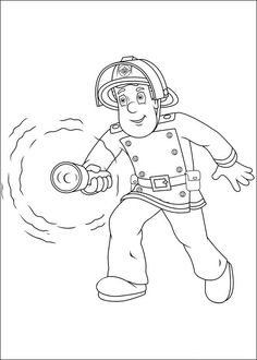 Fireman sam, Firemen and Coloring pages on Pinterest