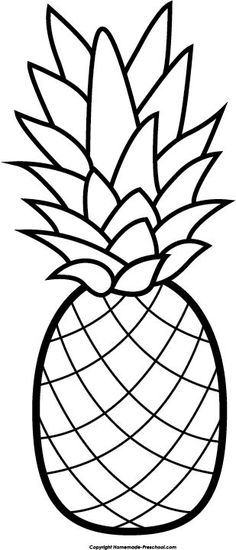 Pineapple pattern. Use the printable outline for crafts